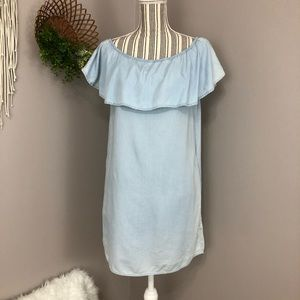 Altar'd State Xs chambray off the shoulder dress